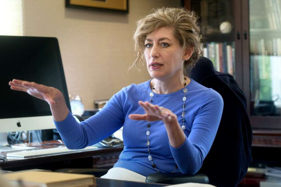 University of Connecticut President Susan Herbst speaks in her office during an interview in Storrs on Aug. 20, 2018. Photo: Ned Gerard / Hearst Connecticut Media / Connecticut Post