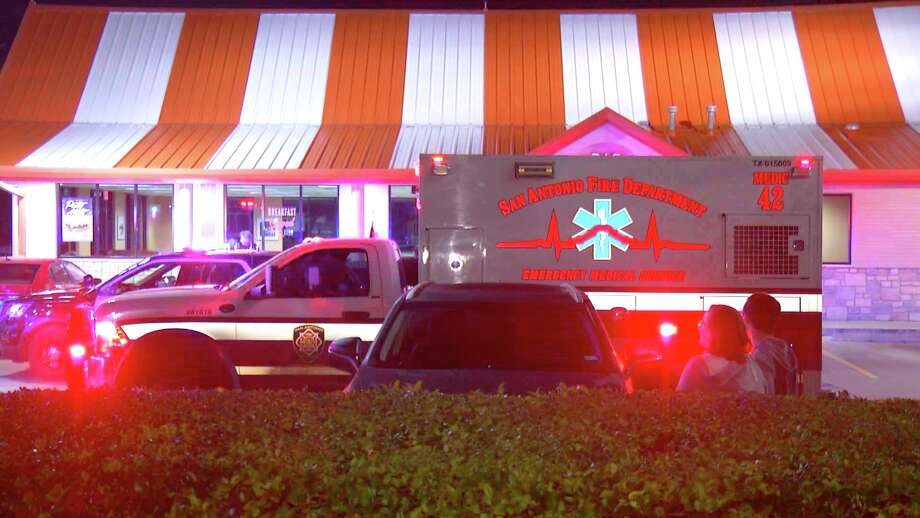 The victim and another man pulled into the Whataburger in the 12800 block of Interstate 10 at about 10:30 p.m. and a blue SUV carrying four suspects pulled up next to them. Photo: Ken Branca