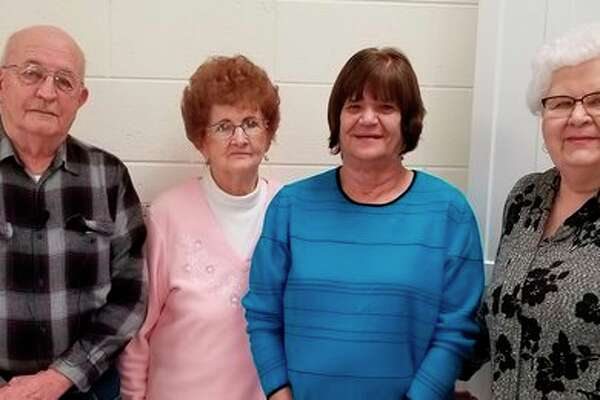 Newly elected officers for the Bad Axe Seniors Retiree's Club are, from left, vice president Jerry Creuger, treasurer Donna Poppeck, president Sue Vaughan and secretary Ruth Kaliszewski. (Submitted Photo)