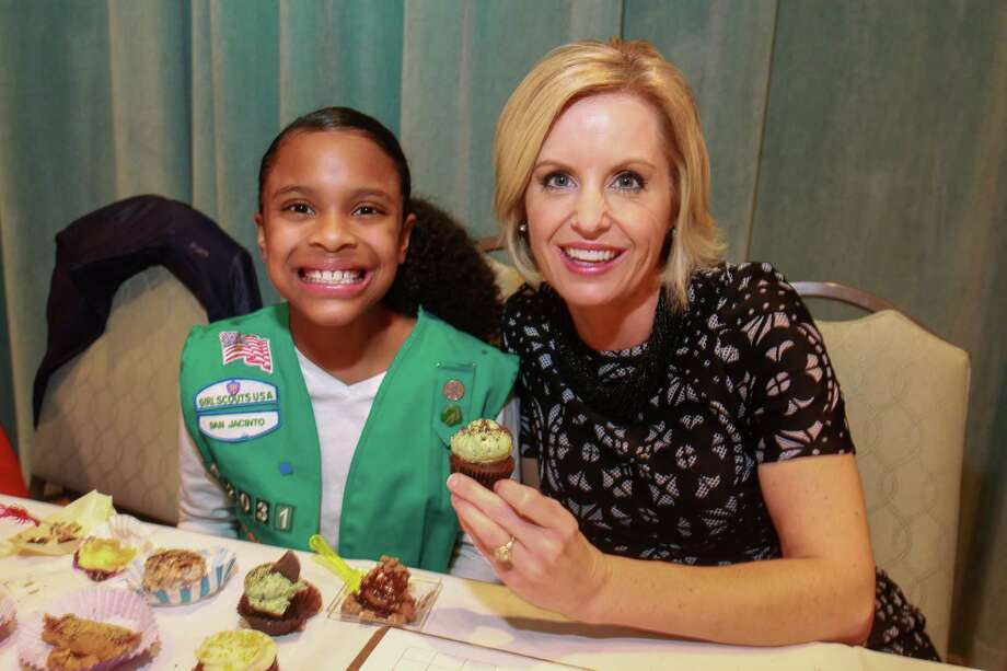 "Judges Layla Hill, and Amy Davis of KPRC Channel 2, at ""Just Desserts,"" hosted by Girl Scouts of San Jacinto Council, and featuring treats made from Girl Scout Cookies by Top Local Chefs Photo: Gary Fountain, Contributor / © 2019 Gary Fountain"