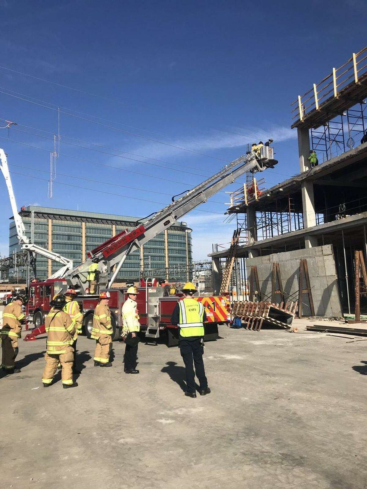 A worker was injured Thursday at a Stamford construction site.