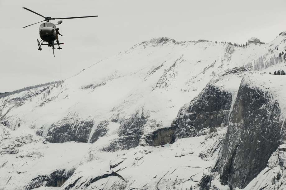 Yosemite National Park rangers, search-and-rescue personnel, and California Highway Patrol's Air Operations rescued two hikers in the North Dome area of Yosemite National Park on Jan. 16, 2019. Photo: Yosemite National Park