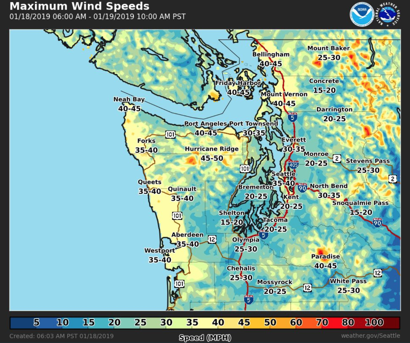 More wind, rain Friday afternoon for Seattle, Puget Sound region