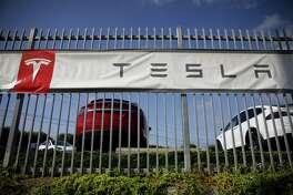 The Tesla delivery center in Marina Del Rey, Calif., on Sept. 29, 2018.