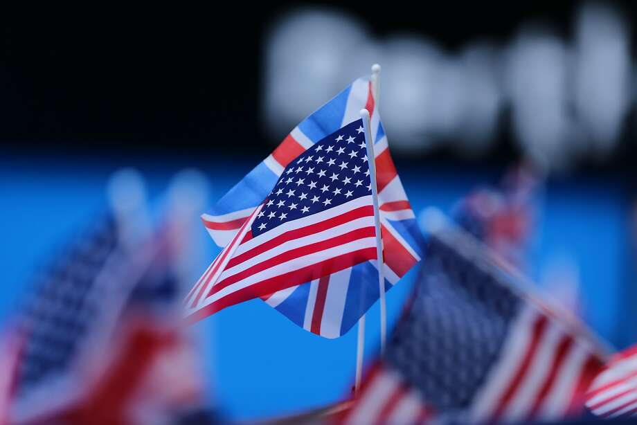 The U.S. and British flags at a recent match at the Australian Open tennis tournament. Photo: Will Russell / Getty Images