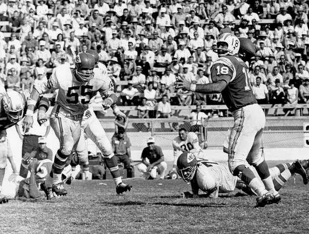 Tobin Rote, San Antonio Harlandale (1950-66)  NFL playoff record: 4-4 (2-2 Lions, 2-2 Chargers) Photo: Charles Aqua Viva/NFL