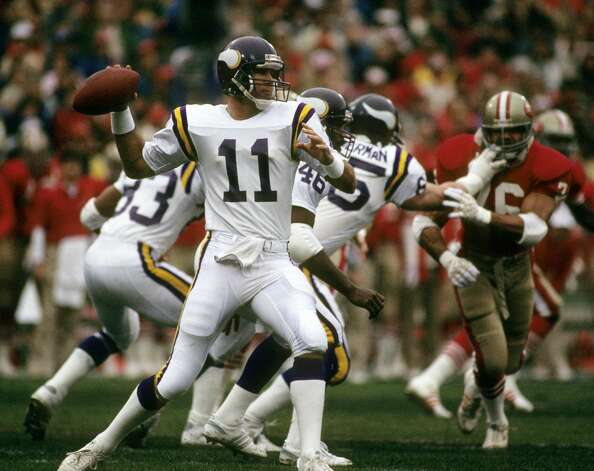 Wade Wilson, Commerce (1981-98)  NFL playoff record: 2-3 (Vikings) Photo: Peter Brouillet/NFL