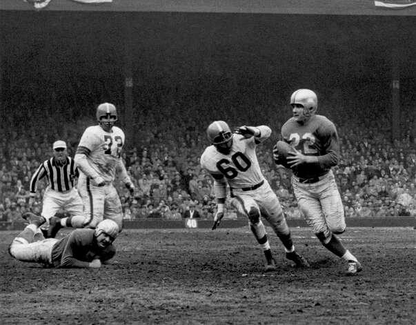 Bobby Layne, Highland Park (1948-62)  NFL playoff record: 3-1 (Lions) Photo: George Gelatly/NFL