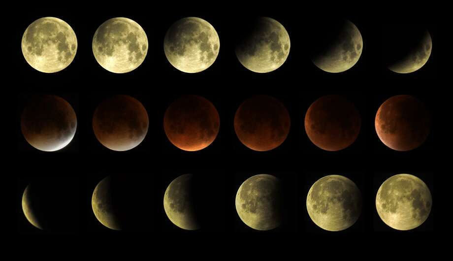 A lunar eclipse that took place on the night of September 27-28, 2015. Photo: Contributed Photo / James Mazur