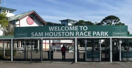 Sam Houston Race Park broke its wagering record by handling $3.3 million on Sunday's program. Attendance was 6,075.