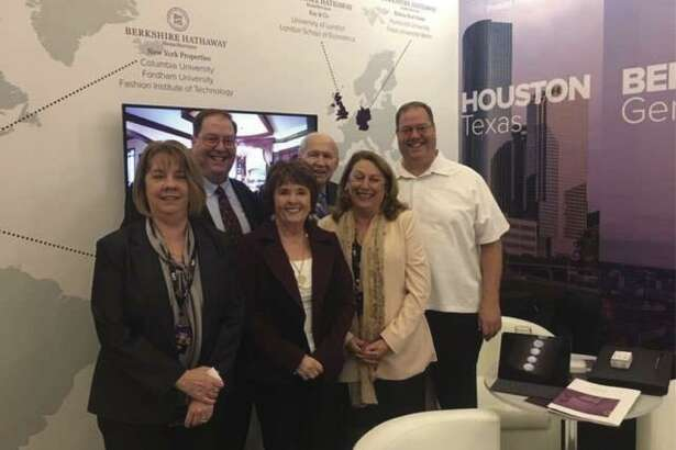 From left are JoEllen Enkelmann, Stacy Mathews, Lynn Breedlove, Tom Breedlove, Rosalie Warner and Tracy Mathews. They represented Berkshire Hathaway HomeServices Premier Properties when in Shanghai, China, to exhibit and participate in the LPS Shanghai luxury property show.