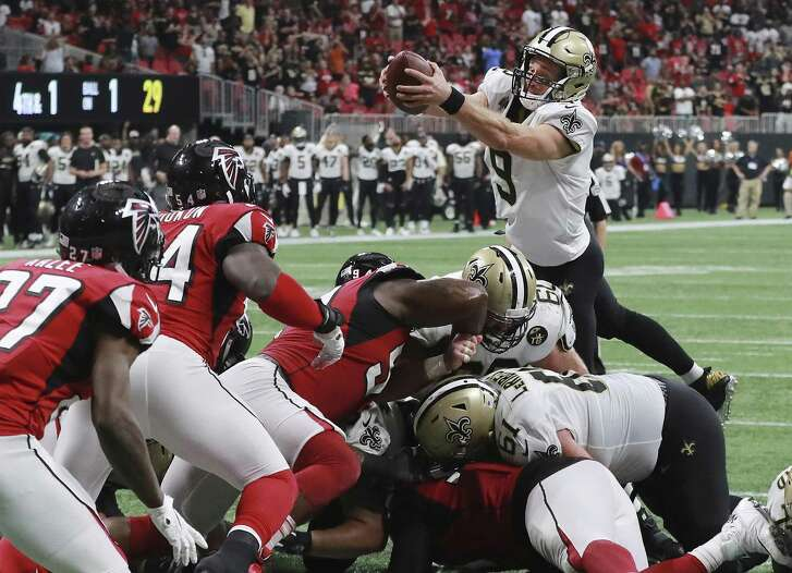 Drew Brees, scoring the winning touchdown to beat the Falcons earlier this season, wouldn't be a fan favorite with the host city if Saints advance to Super Bowl in Atlanta.
