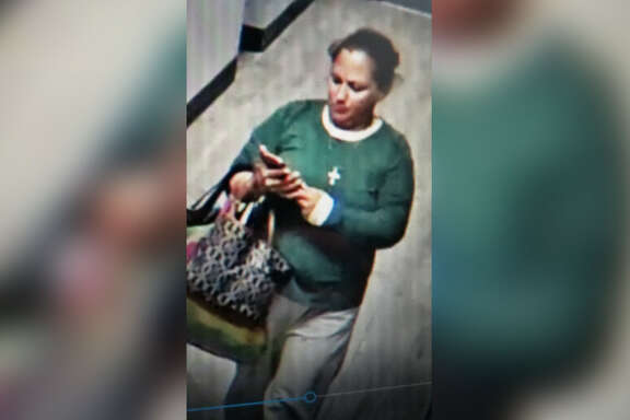 The League City Fire Marshal's Office is seeking information on a woman accused of pulling a false fire alarm inside the South Shore Harbor Resort in the 2500 block of South Shore Boulevard around 11 p.m. on Jan. 4, 2019.