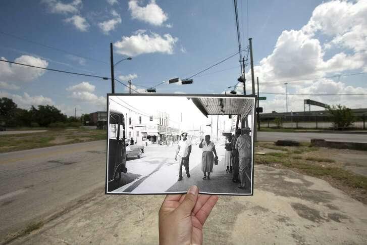 There's not much to see today at the intersection of Lyons Avenue and Jensen Drive, but in the 1950s it was bustling area with a rich history of Southeast Texas-style barbecue.