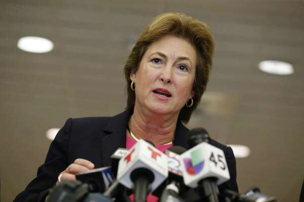 Harris County District Attorney Kim Ogg fired about 40 prosecutors after taking office in 2017. ( Steve Gonzales / Houston Chronicle )