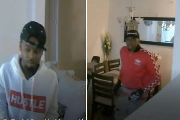 According to a release from the Conroe Police Department, two black male suspects were caught on surveillance video allegedly burglarizing apartments located in the area of FM 1488 and IH 45 in Conroe.