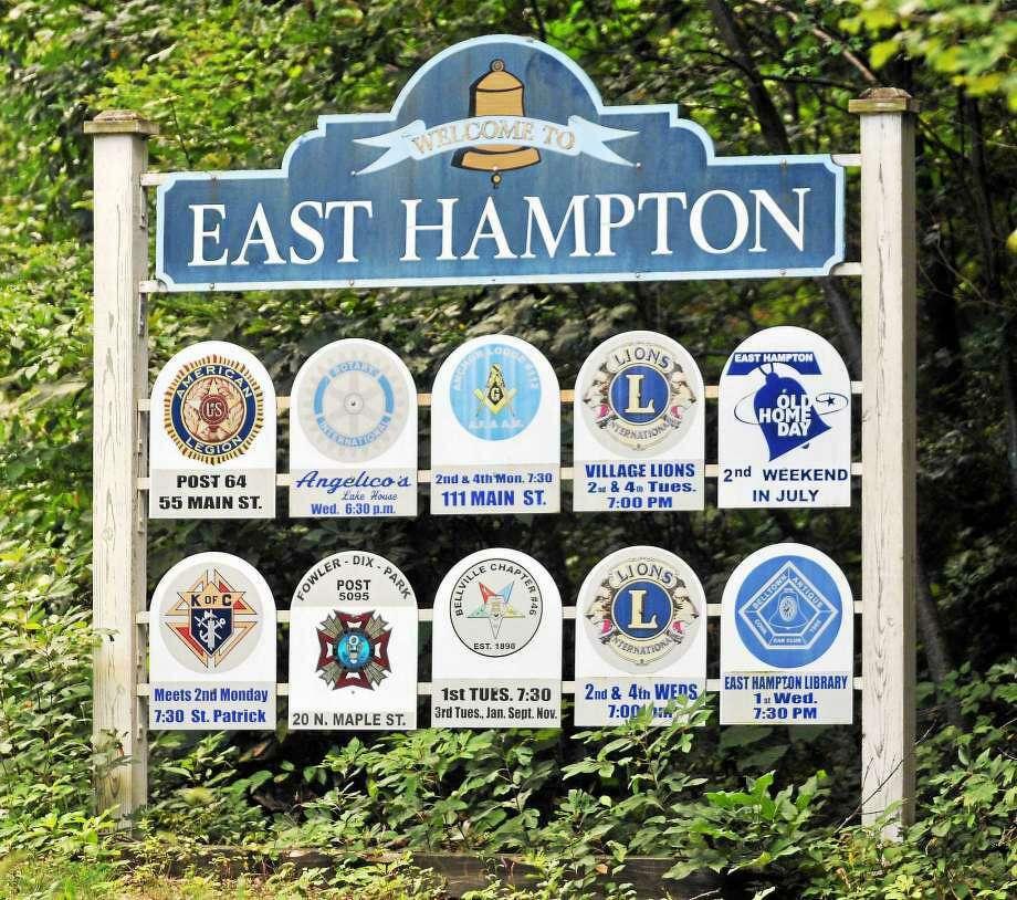 East Hampton town sign Photo: File Photo