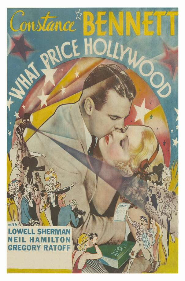 Hugs and Kisses over throngs of revelers on a poster that advertises the movie 'What Price Hollywood,' 1932. (Photo by Buyenlarge/Getty Images) Photo: Buyenlarge/Getty Images