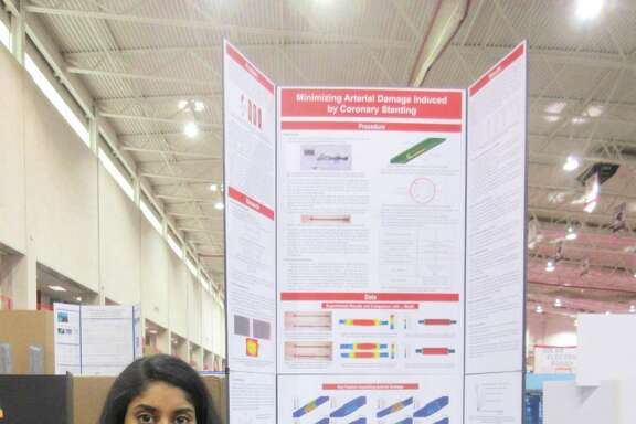 "Shobha Dasari, a senior at The Woodlands College Park High School, was named one of 300 scholars nationwide — one of 12 in Texas and the only one in the Houston area — in the Regeneron Science Talent Search with her project, ""Minimizing Arterial Damage Induced by Coronary Stenting."""