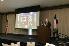 More than 230 people attended the Katy Area Chamber of Commerce State of the City of Katy luncheon on Wednesday to listen to city officials discuss their priorities for region.