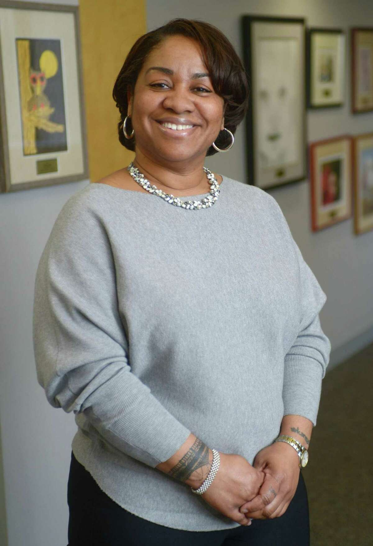 Norwalk High School Assistant Principal and Director of The Norwalk Early College Academy (NECA), Karen Amaker, in January 2019.