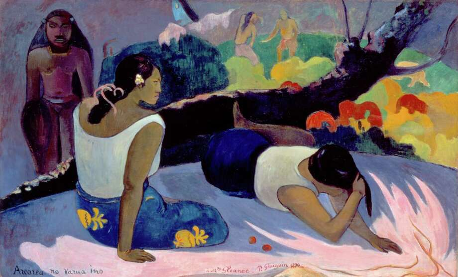 """Paul Gauguin, """"Reclining Tahitian Women,"""" 1894, oil on canvas. """"Gauguin: A Spiritual Journey,"""" at the De Young Museum in San Francisco, attempts to show a more conventional side of the artist amid the cultural influences that shaped his life and his work. Photo: Ole Haupt-Fine Arts Museums Of San Francisco-NY Carlsberg Glyptotek, Copenhagen / Ole Haupt-Fine Arts Museums of San Francisco-NY Carlsberg Glyptotek, Copenhagen"""