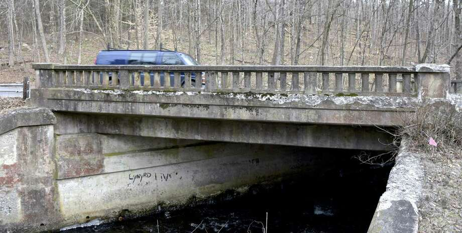 The Merryall Road bridge is one of the five worst in Litchfield County. New Milford is trying to fix it by 2020 but the layout and construction of it are posing challenges. Tuesday, January 15, 2019, in New Milford, Conn. Photo: H John Voorhees III / Hearst Connecticut Media / The News-Times
