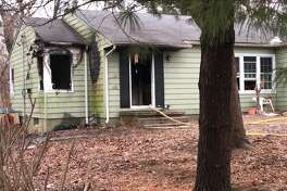 This house on Broadview Drive caught fire Friday afternoon. Edwardsville Fire Department crews worked to extinguish the fire, which is under investigation.