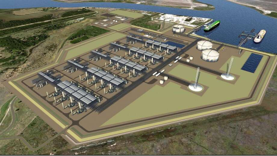 A rendering of the Driftwood LNG terminal proposed by Tellurian Inc. of Houston that big a massive boost to liquefied natural gas exports on the Gulf Coast. Photo: Federal Energy Regulatory Commission