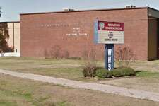 The Wharton High School sign seen from Google Maps Street View.