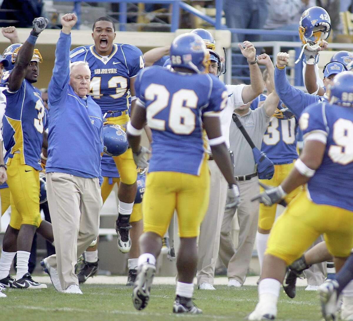 Dick Tomey's best season at San Jose State was 2006 when the Spartans went 9-4 and won the New Mexico Bowl.