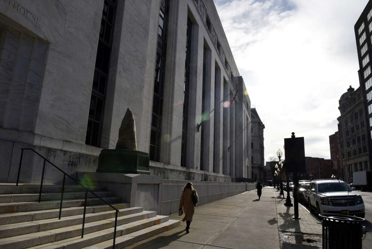 Exterior of the James T. Foley Federal Courthouse on Thursday, Jan. 10, 2019, on Broadway in Albany, N.Y. (Will Waldron/Times Union)