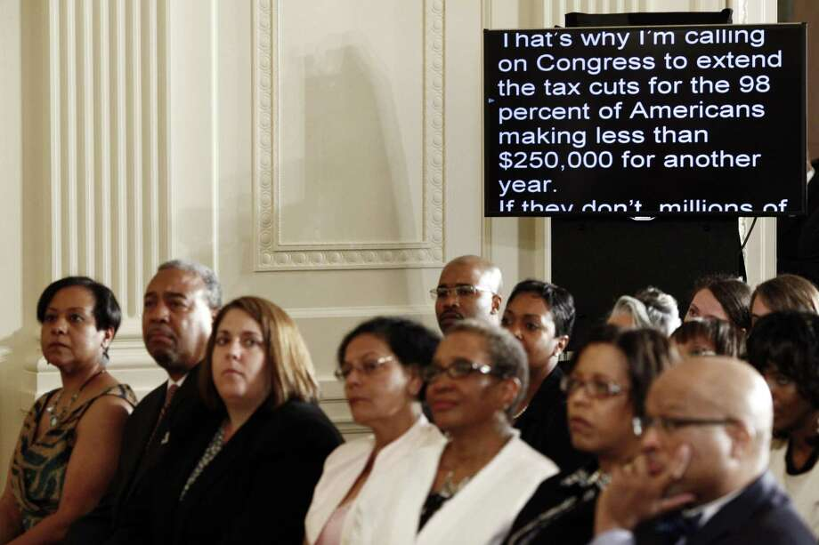 President Barack Obama's speech is displayed on a teleprompter in the East Room of the White House in Washington, July 9, 2012. A reader discusses how Trump's use of mnemonic images as opposed to a teleprompter led to the wall fiasco. Photo: LUKE SHARRETT /New York Times / NYTNS