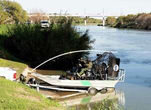 Among the commonsense steps that would increase border security is to clean up the Rio Grande to make illegal entry more difficult. Here, the Border Patrol prepares to patrol the river last week.