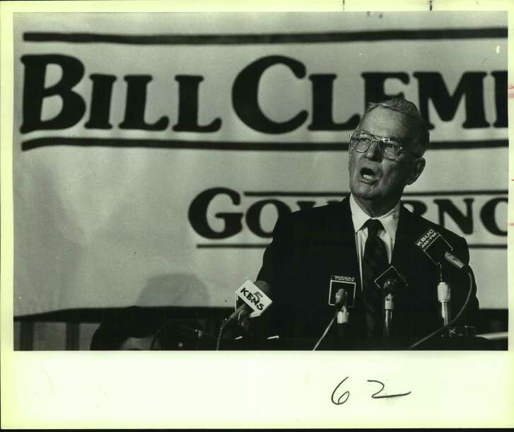 In an undated photo, Bill Clements campaigning for governor at the Menger Hotel in Texas. His brand of politics led to Republican dominance in Texas, a feat that can be emulated if the party isn't to be diminished.