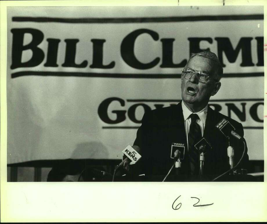 In an undated photo, Bill Clements campaigning for governor at the Menger Hotel in Texas. His brand of politics led to Republican dominance in Texas, a feat that can be emulated if the party isn't to be diminished. Photo: Joe Barrera Jr. /San Antonio Express-News / San Antonio Express-News