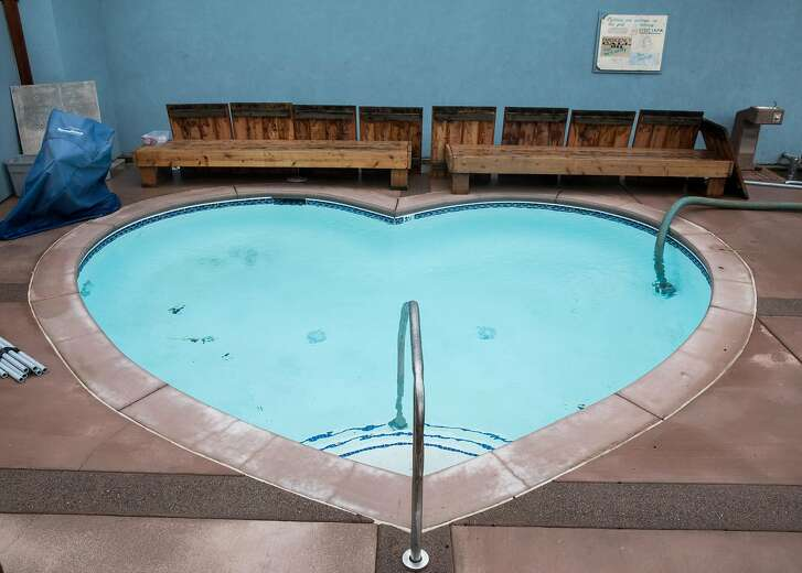 The newly-reconstructed Heart Warm Pool is seen at Harbin Hot Springs near Middletown, Calif. Thursday, Jan. 17, 2019.
