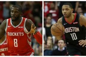 Rockets' James Ennis III and Eric Gordon.