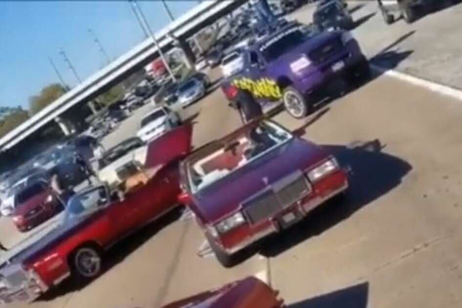 The video, originally uploaded by Instagram user Kandy_Red_Bread to social media on Dec. 2, was obtained by law enforcement as evidence and used to charge several members of the Lonestar Slab club with obstructing a highway.