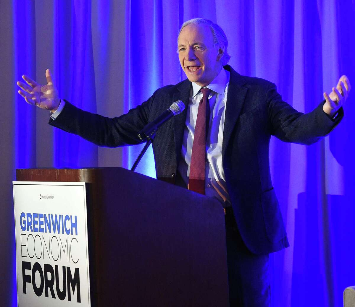 Bridgewater Associates Founder Ray Dalio speaks during day one of the Greenwich Economic Forum in November.
