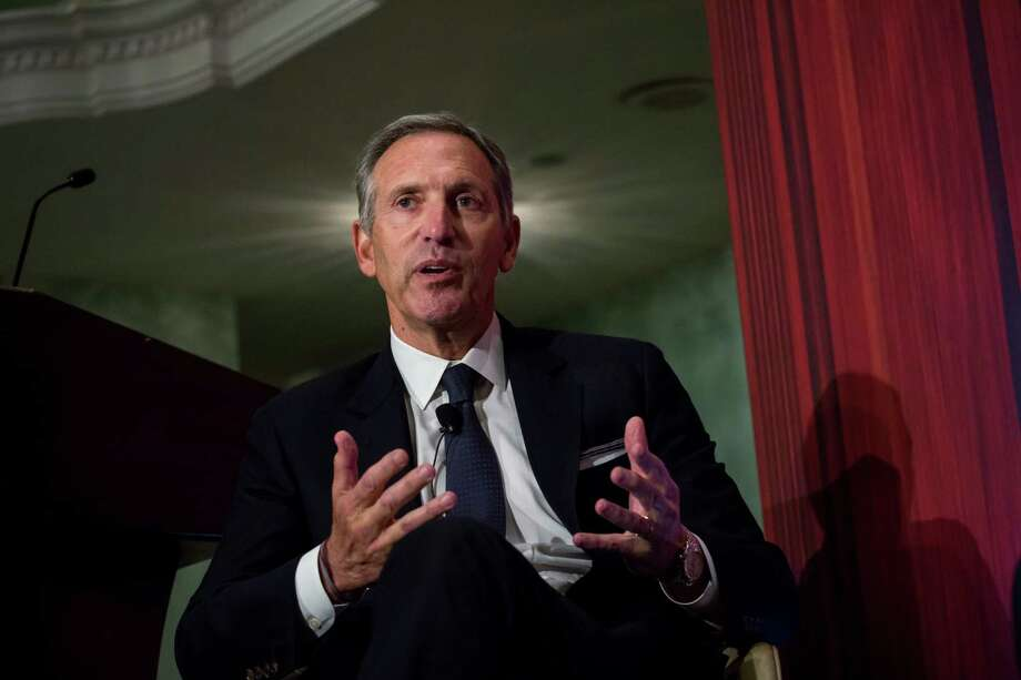 FILE -- Howard Schultz, chairman and founder of Starbucks Corp., speaks during a conference in New York in 2017. Photo: Bloomberg Photo By Michael Nagle / Bloomberg