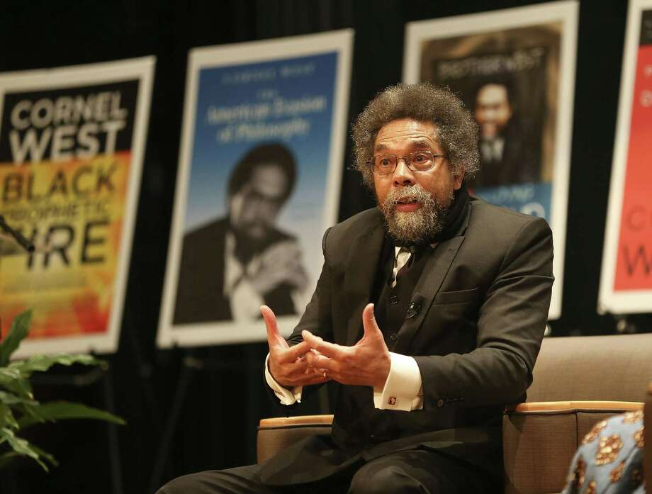 African-American scholar and Harvard University professor Cornel West answers questions after giving an address at Prairie View A&M University Friday, Jan. 18, 2019. Photo: Elizabeth Conley, Houston Chronicle / Staff Photographer / © 2018 Houston Chronicle