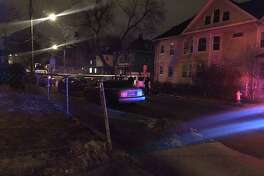 A male was shot twice in the leg on Washington Terrace in Bridgeport, Conn., on Jan. 18, 2019.