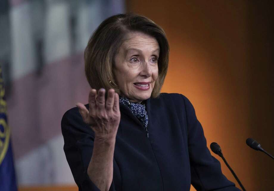 In this Dec. 13, 2018 photo, House Democratic leader Nancy Pelosi of California holds a news conference at the Capitol in Washington. Parties and Christmas cookies only soothe so much in the chilly Capitol after two years of President Donald Trump's provocations, dramas like Supreme Court Justice Brett Kavanaugh's confirmation and the elections that flipped the House majority to Democrats. Everyone wants to go home, yet both chambers were scheduled to be in session next week over hefty matters, including the budget and criminal sentencing reform. (AP Photo/J. Scott Applewhite) Photo: J. Scott Applewhite / Associated Press / Copyright 2018 The Associated Press. All rights reserved