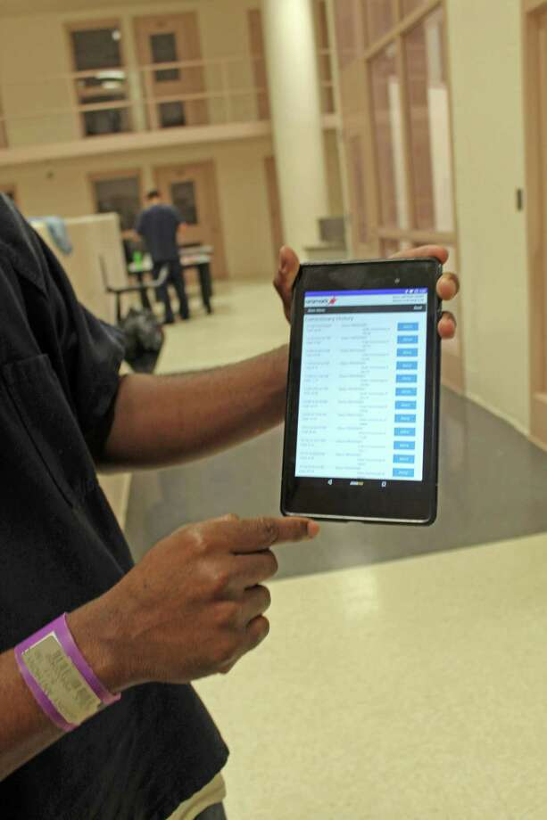 Inmates at the Fort Bend County Jail can now use small personal tablets for $5 a month to read books, listen to podcasts, watch educational videos and make phone calls through a new pilot program.