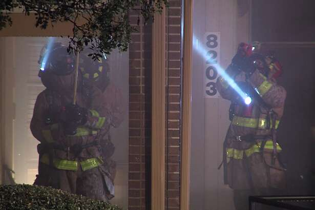 San Antonio firefighters responded to a structure fire Friday evening, Jan. 19, 2019, to offices at a business complex. No injuries were reported.