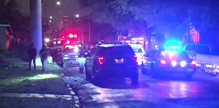 A homeowner shot four men who forced their way into his home about 12:45 a.m. Saturday on Sherman, Houston police say. One suspect died in front of the home. Another was shot in the leg and was found at the scene. Two other suspects fled in an SUV, but the driver collapsed a few blocks down 71st at Harrisburg, where he crashed into a pole. He died there. The fourth male fled on foot, but collapsed at Capitol and 71st. He later died at a hospital. Photo: Metro Video