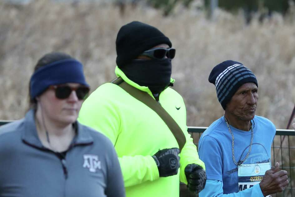 Runners braved the cold as they ran in the We Are Houston 5K presented by Aramco and Chevron Saturday, Jan. 19, 2019, in Houston.
