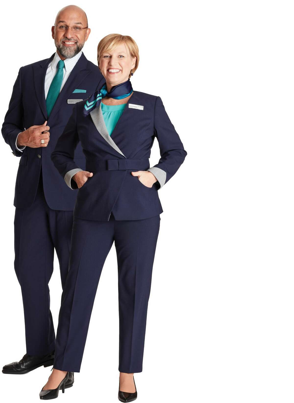 United Airlines new customer service uniforms Brooks Brothers