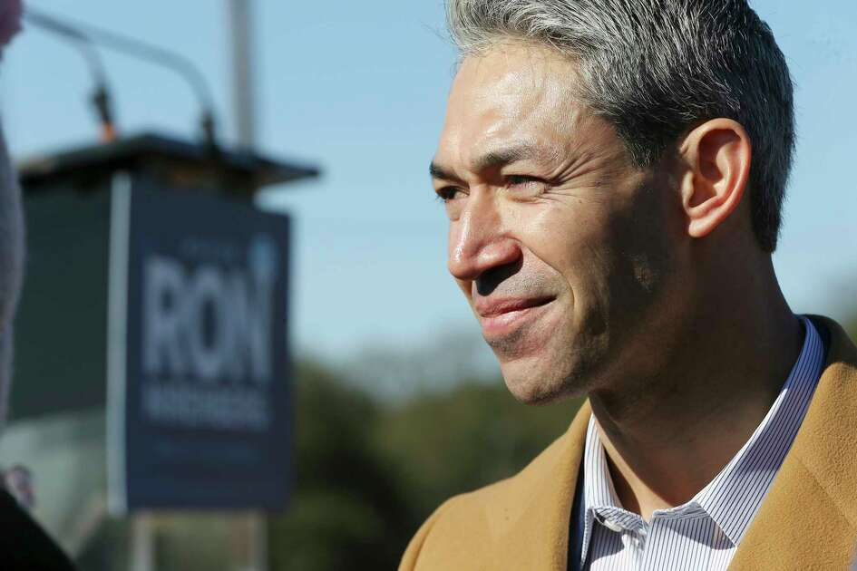 Mayor Ron Nirenberg announces his bid for re-election as city mayor with family and supporters at Alamo Stadium on Saturday, Jan. 19, 2019. Citing economic and social prosperity as some of the reasons the city has progressed under leadership, Nirenberg called out to his supporters to once again rally behind him in his second bid for the city's top elected office. The city skyline provided the backdrop as a moderate crowd with signs, musicians, a mariachi band and some council members completed the scene for Nirenberg to ask voters that he one to continue to lead the city for another two years. City elections take place on May 4th.